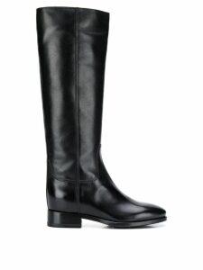 Santoni stitched panels boots - Black