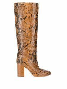 Twin-Set block heel snake boots - NEUTRALS