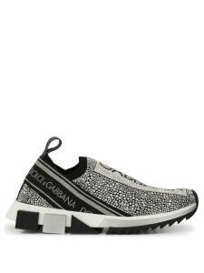 Dolce & Gabbana Sorrento crystal embellished sneakers - Black
