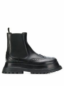 Burberry brogue Chelsea boots - Black