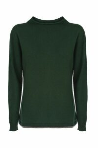 Fabiana Filippi green wool and cashmere sweater