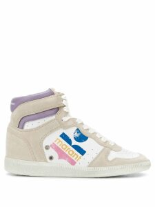 Isabel Marant distressed logo sneakers - White