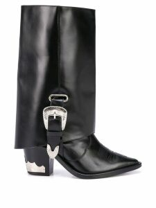 Toga knee-high boot extenders - Black