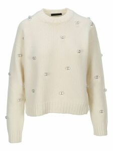Alanui Pearls Embellished Sweater