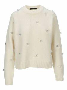Alanui Pearls Embellished Sweater