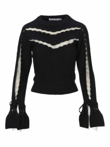 Self Portrait Scallop-trim Knitted Sweater
