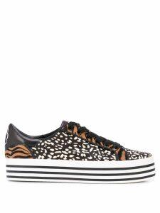 Alice+Olivia Falyn striped platform sneakers - Black