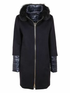 Blue Cashmere Padded Coat