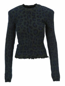 Unravel Leopard Print Sweater