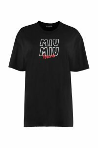 Miu Miu Crew-neck Cotton T-shirt