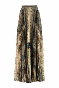 Etro Printed Pleated Skirt