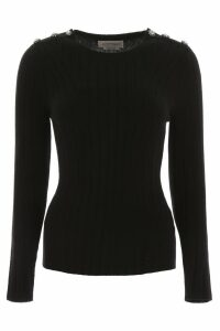 Alexander McQueen Bicolor Knit With Decorative Buttons