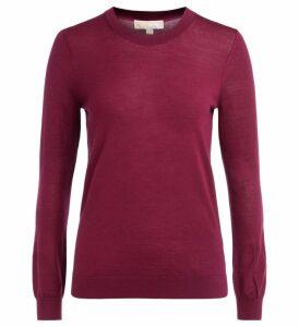 Michael Kors Sweater In Garnet Red Merino Wool