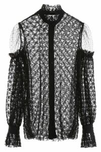 WANDERING Pleated Lace Shirt