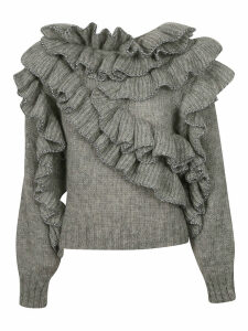 Alberta Ferretti Ruffled Sweater