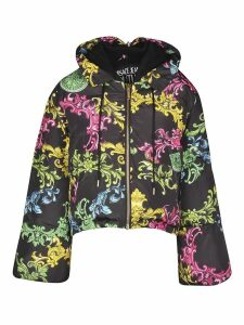 Versace Jeans Couture Baroque Printed Zipped Hoodie