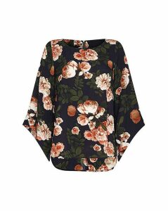 Mela London Curve Rose Print Blouse