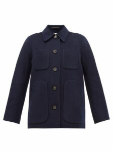 Acne Studios - Okera Single Breasted Double Faced Wool Coat - Womens - Navy