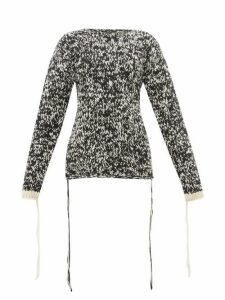 Joseph - Mouliné Knit Loose Thread Wool Sweater - Womens - Black White