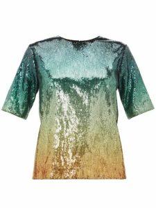 Mary Katrantzou - Roy Dégradé Sequinned Top - Womens - Green Multi