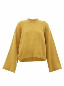 Petar Petrov - Kleio Cropped Cashmere Sweater - Womens - Dark Yellow