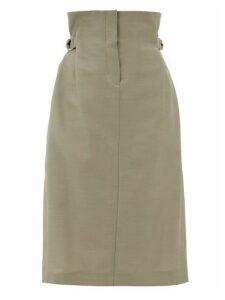 Acne Studios - Ippy Paper-bag Wool-twill Skirt - Womens - Beige