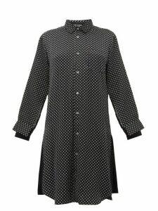Junya Watanabe - Polka Dot Satin Shirtdress - Womens - Black Multi