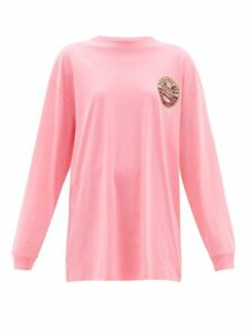 Vetements - Surfer Print Cotton Jersey T Shirt - Womens - Pink