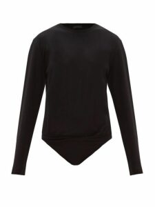 Atm - Long Sleeve Cotton Jersey Bodysuit - Womens - Black