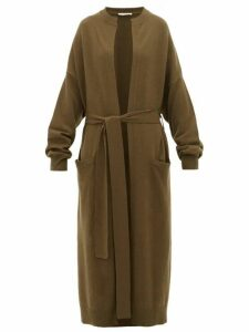 Extreme Cashmere - No.105 Big Coat Stretch-cashmere Cardigan - Womens - Dark Khaki