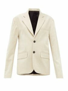 La Fetiche - Annie Single-breasted Cotton-blend Blazer - Womens - Cream