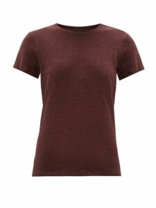 Atm - Slubbed Cotton-jersey T-shirt - Womens - Burgundy