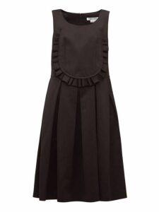 Comme Des Garçons Comme Des Garçons - Ruffled-bib Twill Dress - Womens - Black