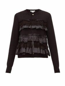 Comme Des Garçons Comme Des Garçons - Ruffled Wool Cardigan - Womens - Black