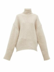 Petar Petrov - Kiron Ribbed Cashmere-blend Sweater - Womens - Beige