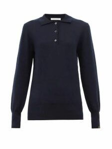 Extreme Cashmere - N°121 Rugby Stretch Cashmere Polo Shirt - Womens - Navy