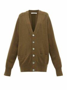 Extreme Cashmere - N°117 Stretch-cashmere Cardigan - Womens - Dark Khaki