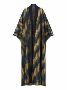 Missoni - Metallic Jacquard-knit Cape Cardigan - Womens - Navy Gold