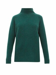 The Elder Statesman - Highland High-neck Cashmere Sweater - Womens - Green