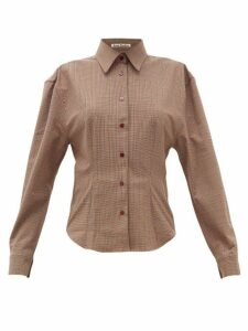 Acne Studios - Sovilla Checked Twill Slim-fit Shirt - Womens - Brown Multi