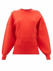 Acne Studios - Kaphne Blouson-sleeve Slim-fit Sweater - Womens - Red