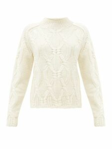 Acne Studios - Kannick Cable-knit Wool Sweater - Womens - Ivory