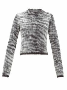 Acne Studios - Khangyu Tiger-jacquard Brushed Sweater - Womens - Black Multi
