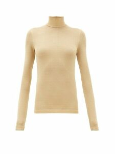 Acne Studios - Elin Metallic Roll-neck Sweater - Womens - Beige