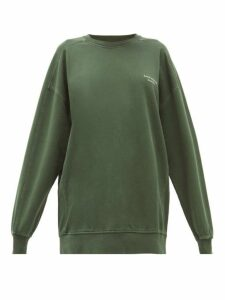 Acne Studios - Wora Logo Embroidered Cotton Sweatshirt - Womens - Khaki