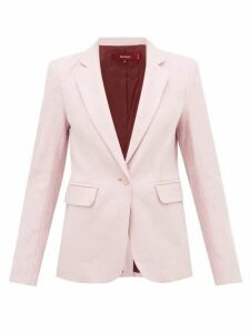 Sies Marjan - Mason Single-breasted Lurex Jacket - Womens - Light Pink