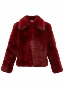 Sies Marjan - Felice Faux-fur Jacket - Womens - Burgundy
