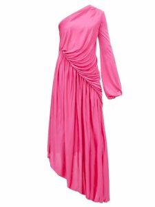 Halpern - Asymmetric Gathered Dress - Womens - Pink