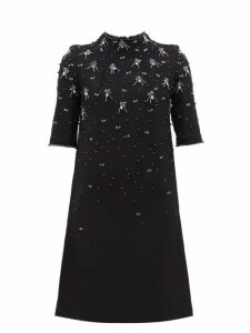 Goat - Alexa Crystal-embellished Wool Dress - Womens - Black