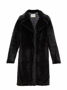 Herno - Padded Faux Fur Coat - Womens - Black